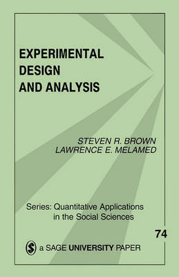 Experimental Design and Analysis by Steven R Brown