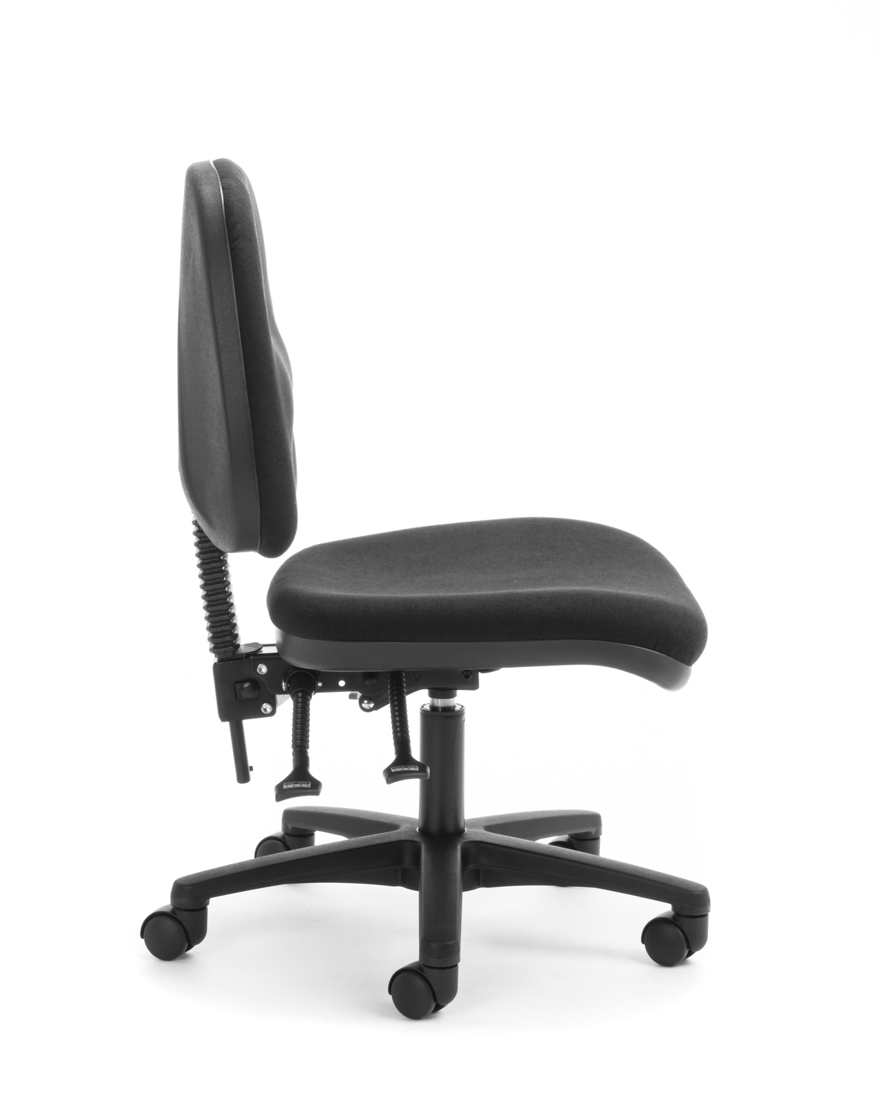 Chair Solutions: Mid Back Task Chair Alpha 2 Lever - Black image
