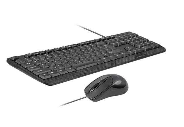 Promate Ergonomic Wired USB Mouse & Keyboard Combo | at