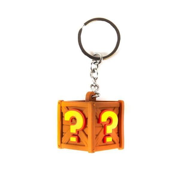 Crash Team Racing Crate Keyring / Keychain