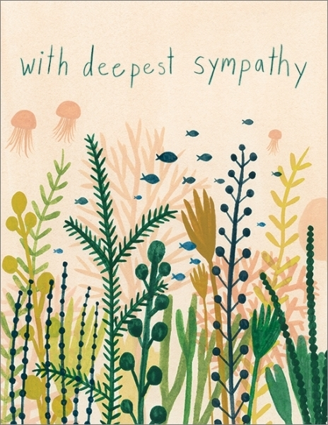 Under Water Deepest Sympathy Empathy Greeting Card