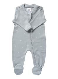 Babu: Organic All In One Zip with Feet - Coastal Blue Star (3-6m)