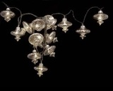 Delight Decor: Chain Electric Kasbah String Lights- Silver