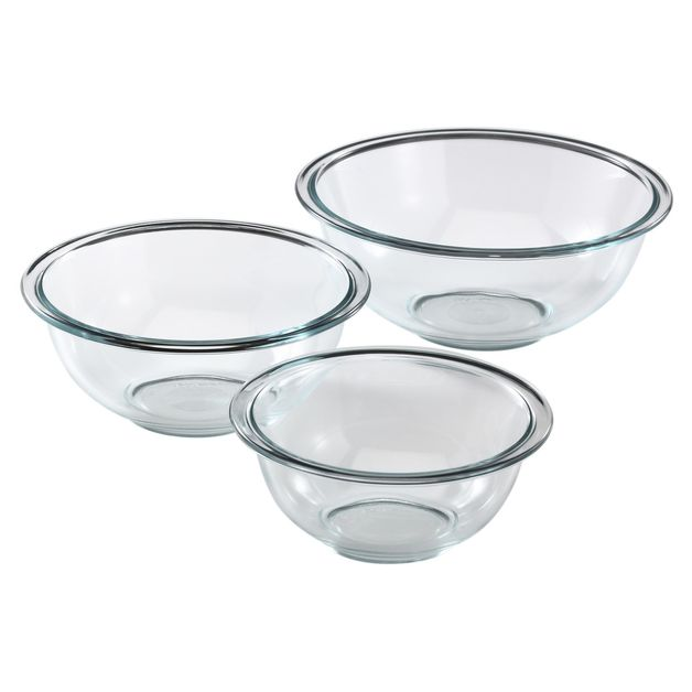 Pyrex: Mixing Bowls - Set of 3 (0.95L, 1.4L, 2.3L)
