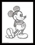 Disney Mickey Mouse Sketch - Framed