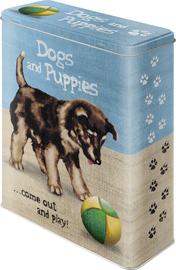 Nostalgic Art: Storage Tin - Dogs & Puppies (XL)