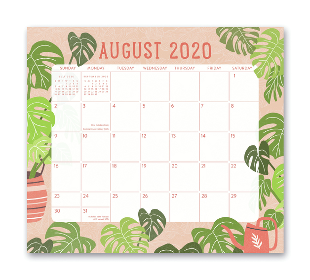 Orange Circle Studio: Magnetic Monthly Pad 2021 - Growing Together