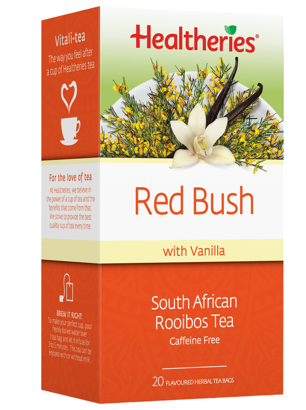 Healtheries Red Bush Rooibos with Vanilla Tea (Pack of 20)