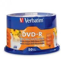 Verbatim DVD-R 4.7GB 50Pk White InkJet 16x image
