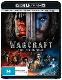 Warcraft: The Beginning on Blu-ray, UHD Blu-ray, UV