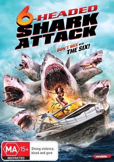 6 Headed Shark Attack on DVD image