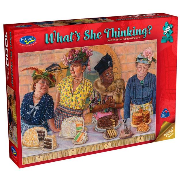 Holdson: 1000 Piece Puzzle - What's She Thinking? (And the Blue Ribbon goes to!)