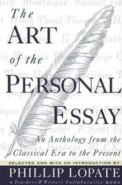 The Art of the Personal Essay by Phillip Lopate image