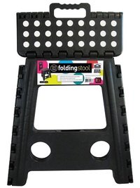 Folding Stool - Large - Black With White Dots