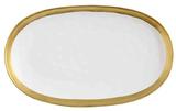 Maxwell & Williams Swank Platter Oblong 36x22cm (White/Gold)