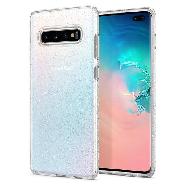 Spigen Galaxy S10+ Liquid Crystal Glitter Case - Crystal Quartz