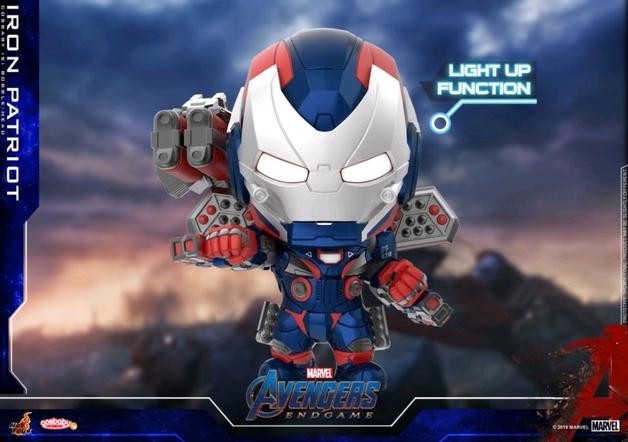 Avengers: Endgame - Iron Patriot (Light Up) Cosbaby Figure