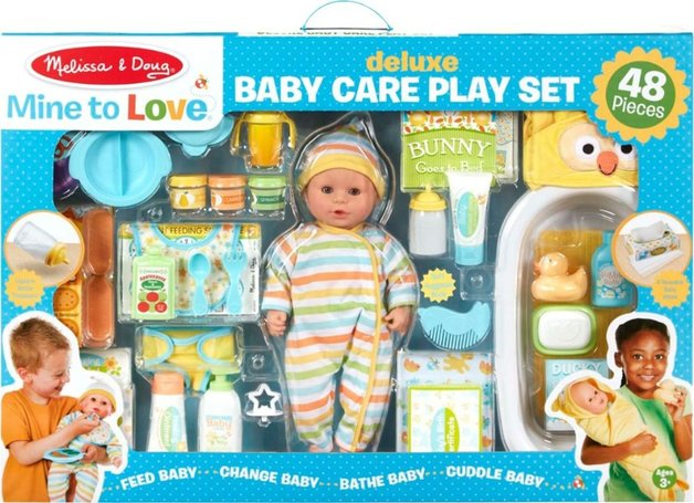 Melissa & Doug: Mine to Love Deluxe Baby Care Play Set