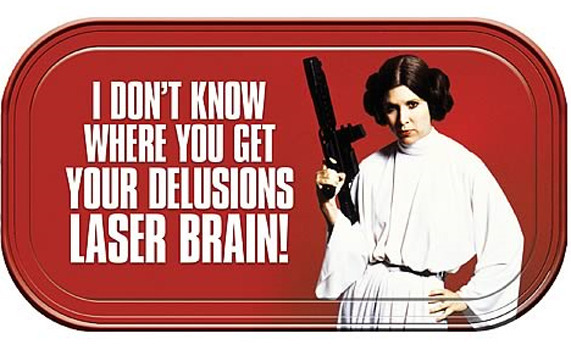 Star Wars Magnetic Mini Tin Sign - Princess Leia Laser Brain