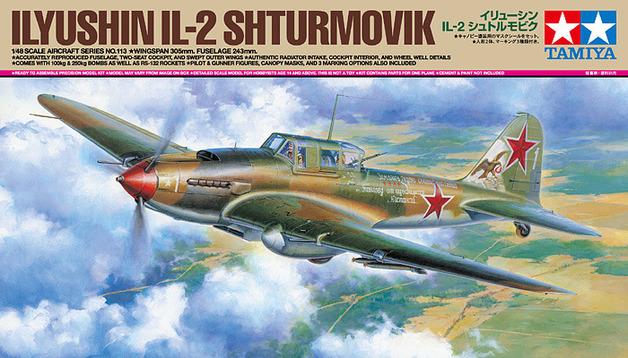 Tamiya Russian Ilyushin IL-2 Shturmovik 1/48 Aircraft Model Kit