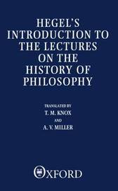 Introduction to the Lectures on the History of Philosophy by G W F Hegel