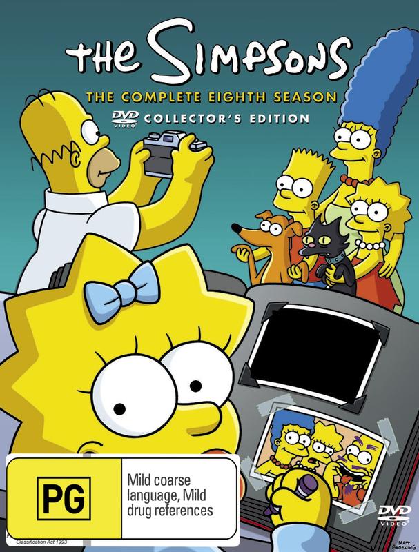 The Simpsons Season 8 Dvd Buy Now At Mighty Ape Australia