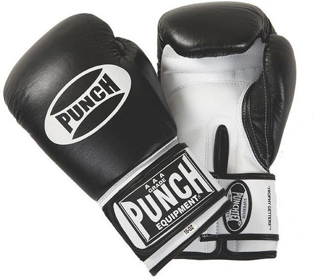 Punch: Trophy Get Gloves - 8.oz (Black/White)