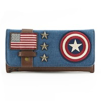 Loungefly Marvel Captain America Canvas Trifold Wallet image