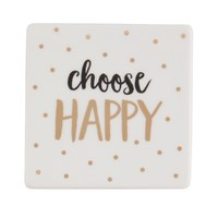 Happy Metallic Monochrome Coaster