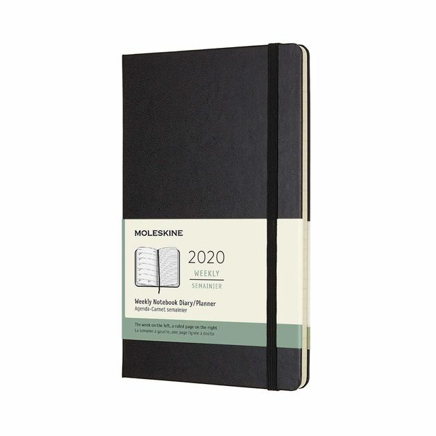 Moleskine: 2020 Diary Large Hard Cover 12 Month Weekly - Black