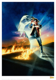 Back to the Future: Premium Art Print - 1st Movie Poster image