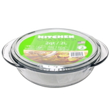 Glass Casserole Dish with Lid - 2 Ltr