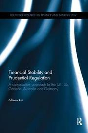 Financial Stability and Prudential Regulation by Alison Lui image