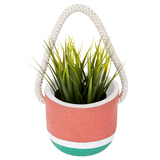 Hanging Plant Pot - Green Coral (Small)