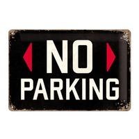 Nostalgic Art: Tin Sign - No Parking