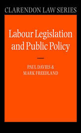 Labour Legislation and Public Policy by Paul Davies image