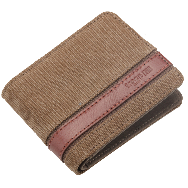 Troop London: Colorado Canvas Wallet - Brown