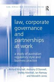 Law, Corporate Governance and Partnerships at Work by Richard N Mitchell