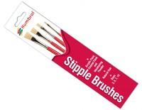 Humbrol: Stipple Brush Pack (Sizes: 03,05,07,10)