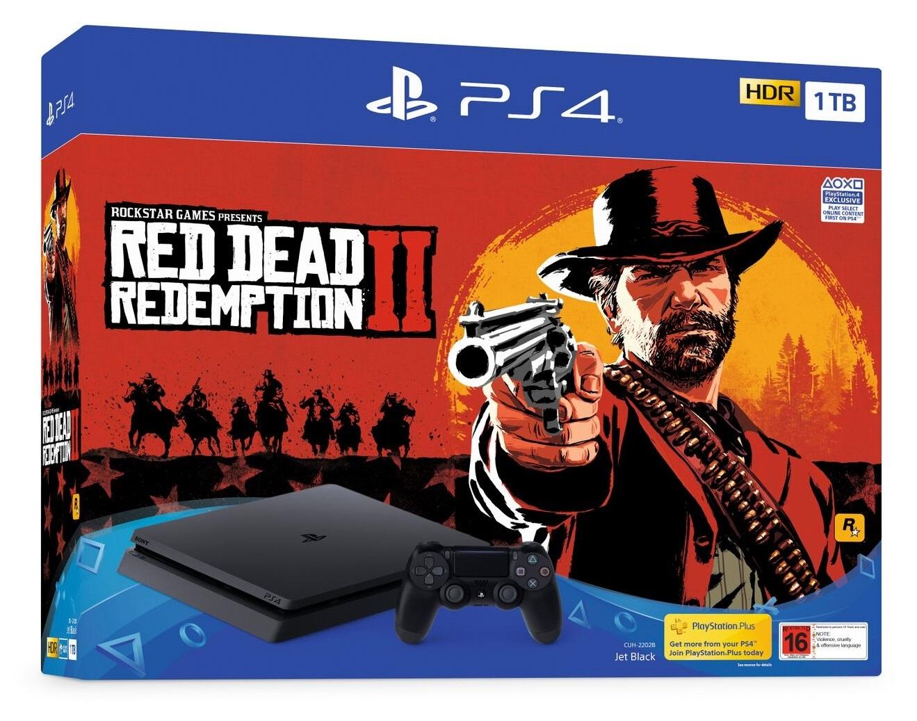 PS4 Slim 1TB Red Dead Redemption 2 Bundle for PS4 image