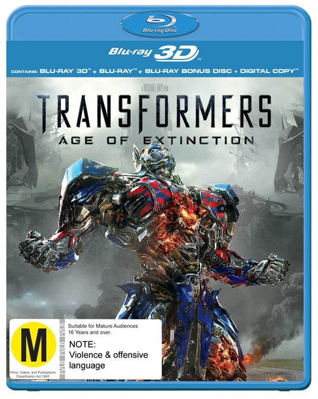 Transformers 4: Age of Extinction 3D on Blu-ray, 3D Blu-ray