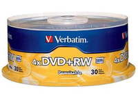Verbatim DVD+RW 4.7GB 4x - 30 Pack