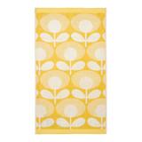 Orla Kiely Speckled Flower Oval Face Towel - Lemon Yellow