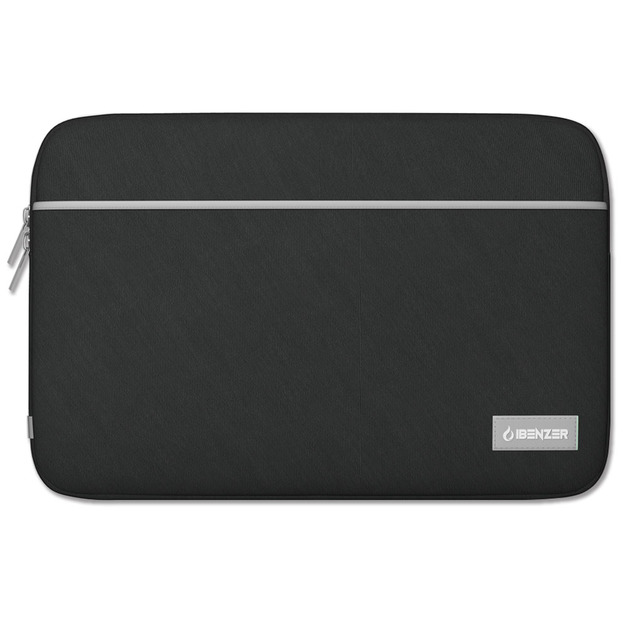 "iBenzer 13.3"" Neoprene Protective Laptop Case Sleeve Bag With Accessory Pocket - Black"