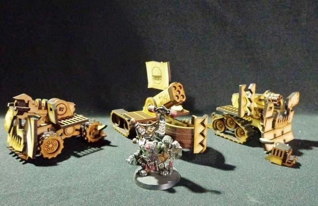 TTCombat: Tabletop Scenics - Orc Guns (x3)