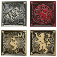 Game of Thrones: House Lapel Pin Set - (4-Pack)
