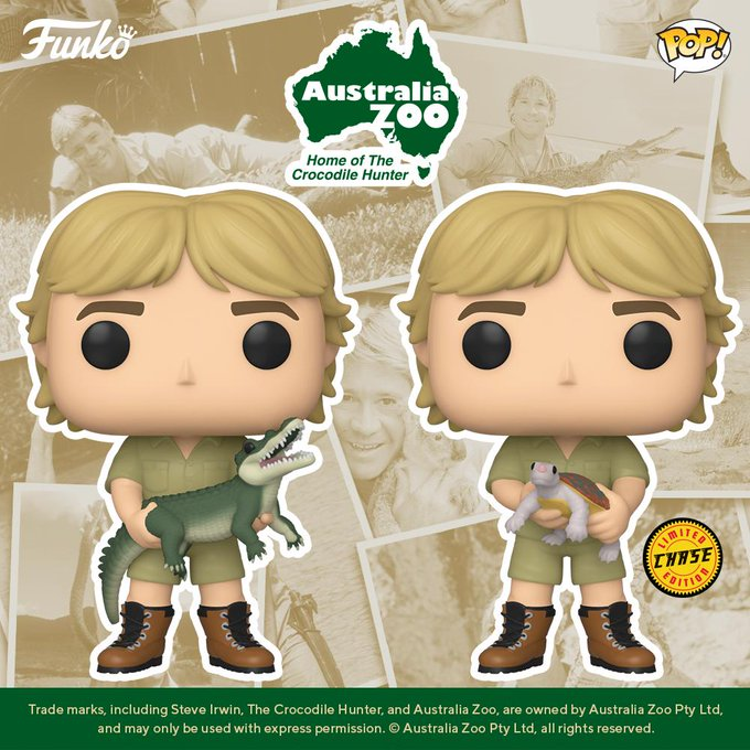 Crocodile Hunter - Steve Irwin Pop! Vinyl Figure (with a chance for a Chase version!) image