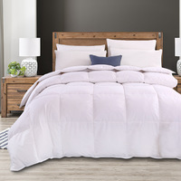 Royal Comfort Goose Feather Quilt & Two Pillow Combo Set - Double image