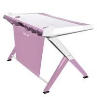 DXRacer Gaming Desk (Pink & White) for PC