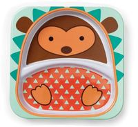 Skip Hop: Zoo Divided Plate - Hedgehog image